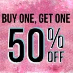 BUY ONE GET ONE 50% OFF!